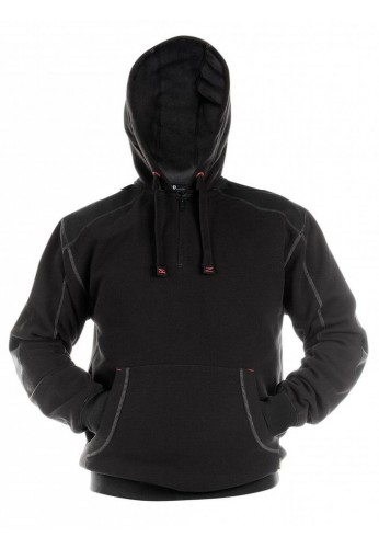 Sweat à capuche noir INDY