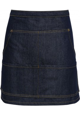 Tablier de cuisine mi-long en denim