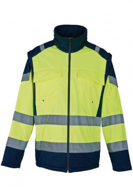 Blouson hiver softshell manches amovibles
