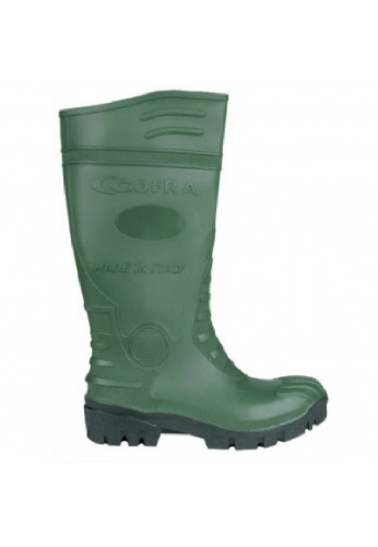 Bottes de securite agriculture / sylviculture TYPHOON S5 GREEN/BLACK