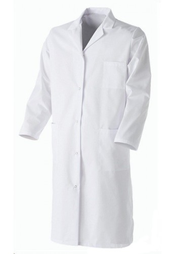 Blouse chimie homme blanche
