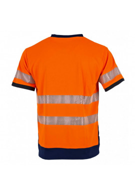 T-shirt haute visibilité MC orange LAMPION
